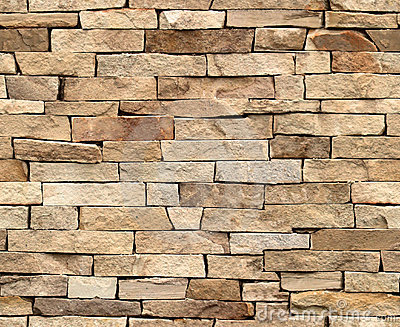 100 seamless tiling stone wall royalty free stock - Steintapete beige ...