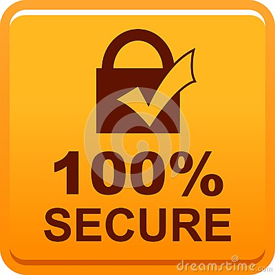 Free 100 Secure Web Button Stock Photography - 119019682