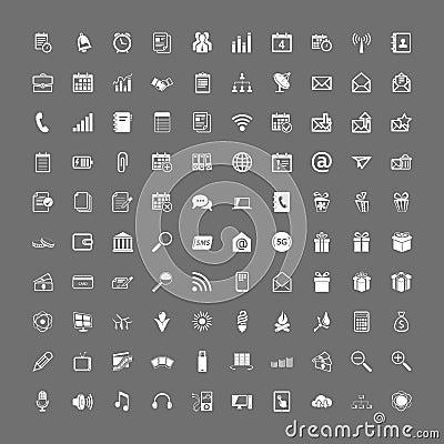 Free 100 Universal Web Icons Set Stock Photography - 30680802