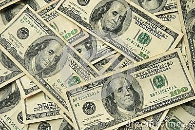 100 USA dollar bills