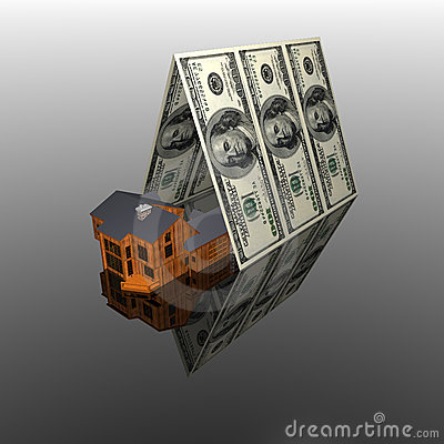 100 usa dollars House roof