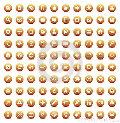 100 vector icons for web, business and inteface