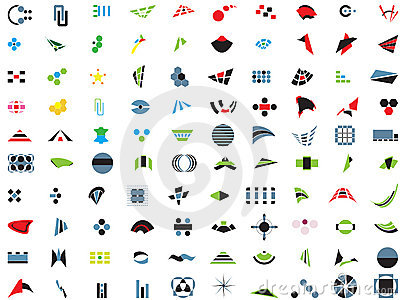 100 vector logos and elements