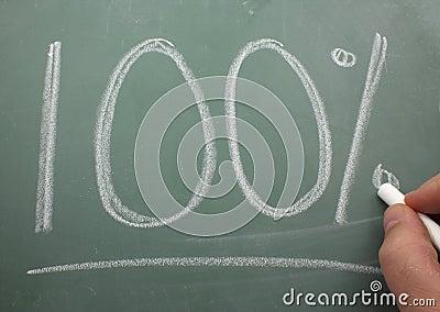 100  Written on Blackboard