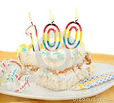 100 year birthday or anniversary cake