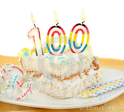 Free 100 Year Birthday Or Anniversary Cake Stock Images - 18599484