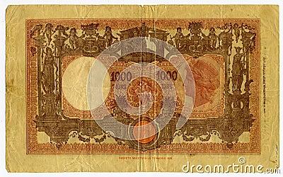 1000 Lira banknote