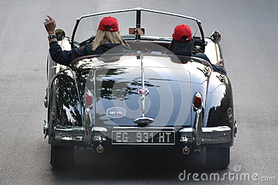 1000 miglia race 2011 - good bye Editorial Image