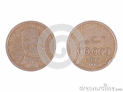 100000 liras turcas