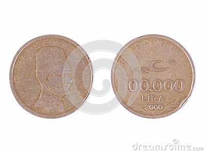 100000 Tureckich liras