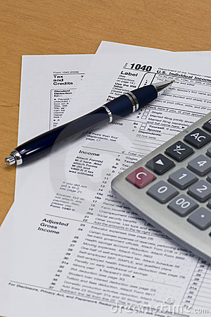 1040 tax form editorial image image 8040315 for 1040 tax table calculator