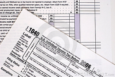 1040 Tax Form (USA) Editorial Stock Image