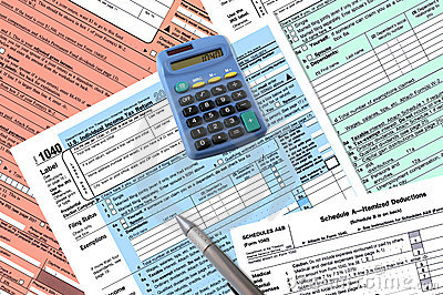 1040 Tax Return Forms Stock Photo - Image: 2177660