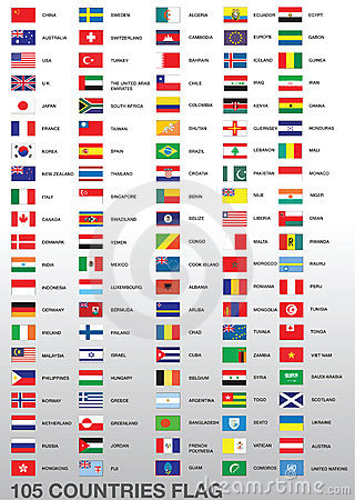 Free 105 Country Flags Royalty Free Stock Photo - 5862535