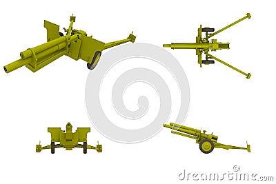 105 MM Howitzer Artillery Field Gun