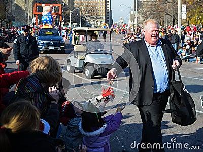 108o desfile de Papá Noel de Toronto Imagen de archivo editorial