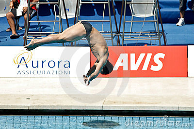 10m Platform Diving at the FINA World Championship Editorial Stock Photo