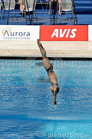 10m platform diving at the FINA World Championship Editorial Photography