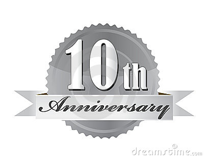 10th anniversary seal illustration design