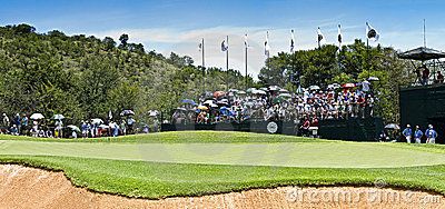 10th Hole - Panoramic View of the Green Editorial Stock Photo