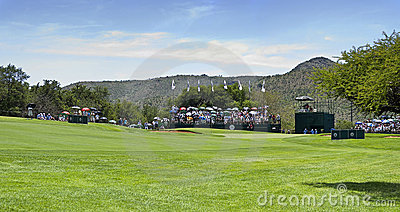 10th Hole - Panoramic View of the Green Editorial Stock Image
