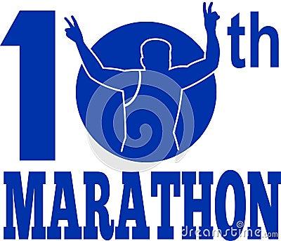 10th marathon run runner race