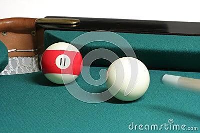 11 ball corner pocket