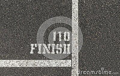 110 Meter Finish Line