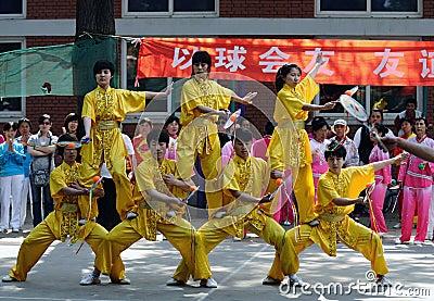 The 11th China Kongfu taiji ball (Rouliqiu) games Editorial Image
