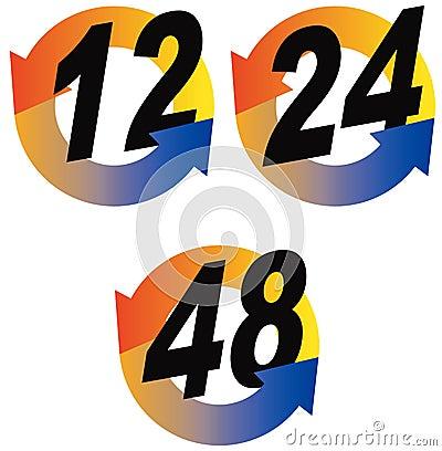 12,24,48 hour icon
