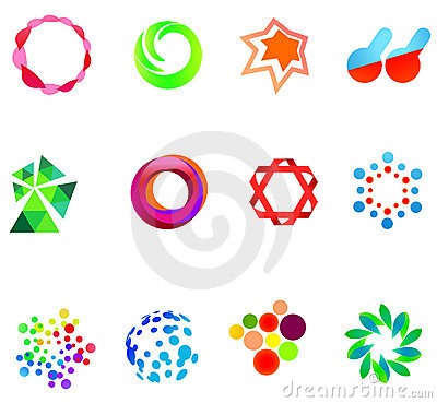 Free 12 Colorful Vector Symbols: (set 21) Royalty Free Stock Images - 21242919