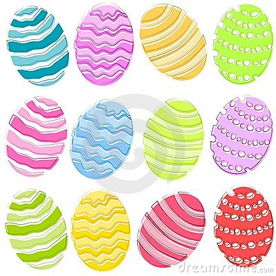 Free 12 Colourful Easter Eggs Clip Art Royalty Free Stock Images - 4008569
