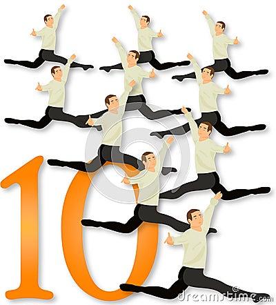 12 dagen van Kerstmis: 10 Lords het Springen