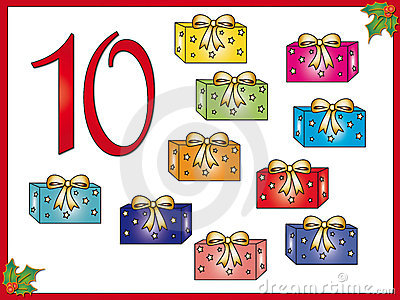 12 days of christmas: 10 gifts