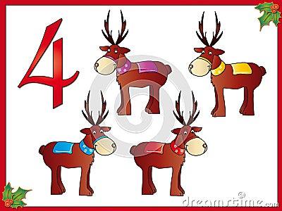 12 days of christmas: 4 reindeer