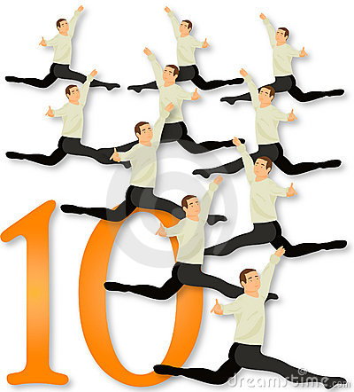 Free 12 Days Of Christmas: 10 Lords A Leaping Royalty Free Stock Image - 399386