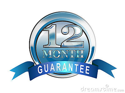 12 month guarantee icon
