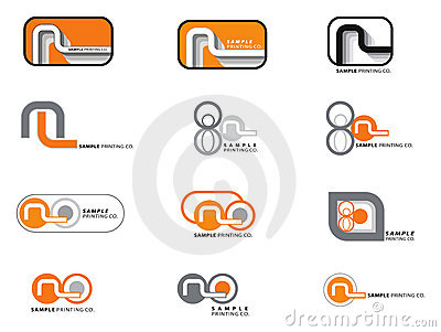 12 orange and grey logos