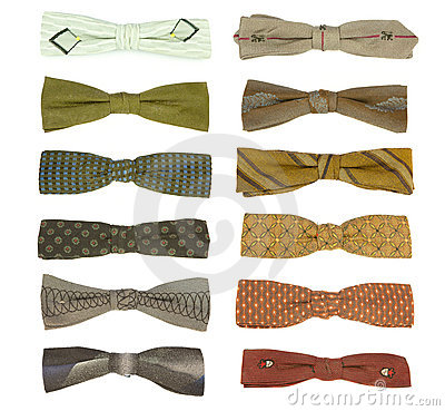 Free 12 Vintage Bow-ties Stock Image - 15334881
