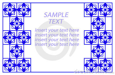 Geometric Corner Borders Blue Geometric Border