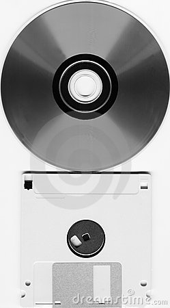 120mm CD and floppy disk