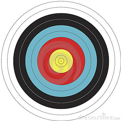 Free 122cm FITA Design Archery Target Stock Photo - 10094340