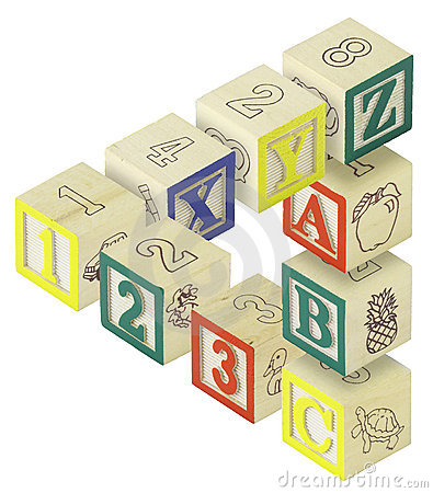 Free 123 ABC Alphabet Blocks Optical Illusion Stock Photography - 11844672