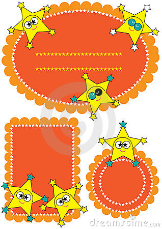 123 etiketter för teckeneps-stjärna