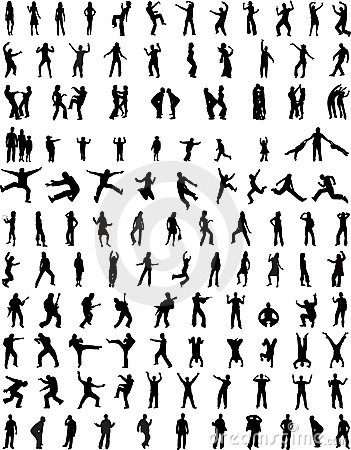 Free 123 Of People Silhouettes Royalty Free Stock Images - 2599699
