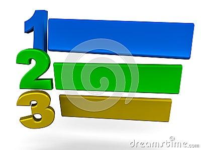 123 steps template