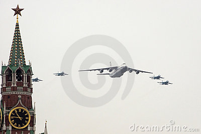 An-124 and Su-27 Editorial Image