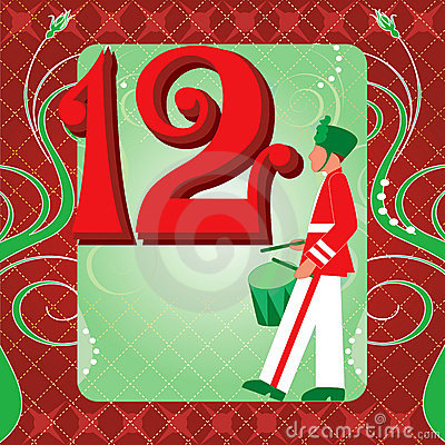 Free 12th Day Of Christmas Stock Images - 22015294