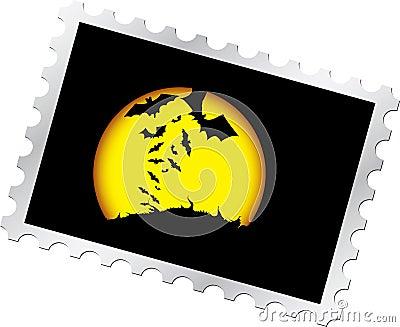 13 Halloween noc opłata pocztowa s znaczek