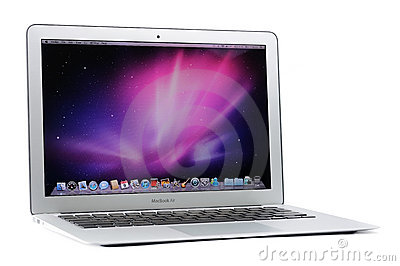13-inch MacBook Air Editorial Stock Photo